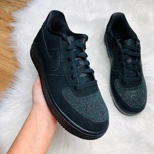 Nike Air Force 1 LV8 Black Glitter NWT
